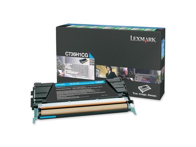LEXMARK C736H1CG High Yield Return Program Toner Cartridge Cyan