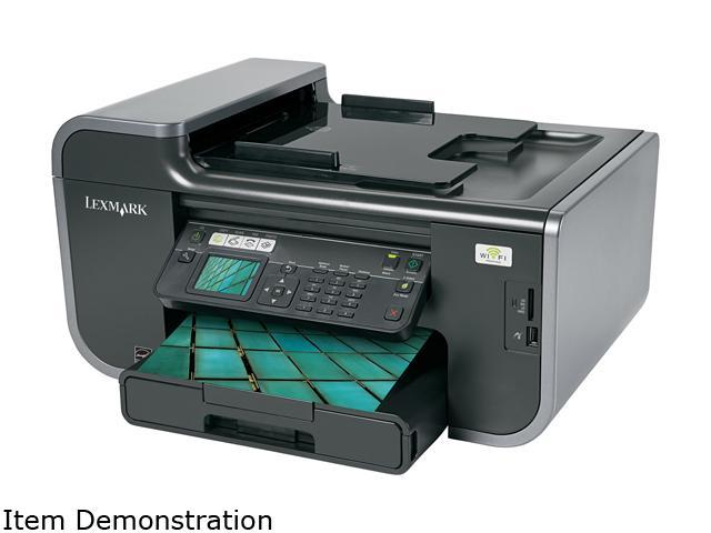 LEXMARK Prevail Pro705 90T7005 Up to 33 ppm Black Print Speed 4800 x 1200 dpi Color Print Quality Wireless InkJet MFC / All-In-One Color Printer