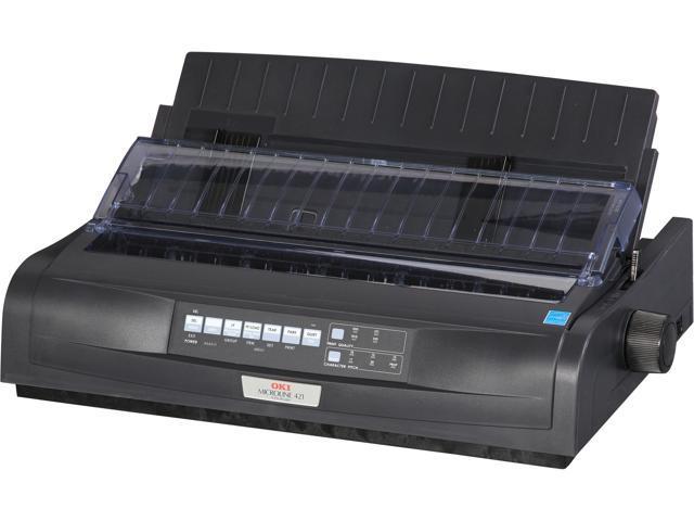 OKIDATA MICROLINE 421 Black (92009701) - Parallel, USB 9 pin 120V Up to 570cps 240 x 216 Dot Matrix Printer