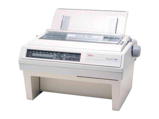 OKIDATA PACEMARK 3410 (61800801) - Parallel & Serial 9 pin 110V Up to 550cps 240 x 216 Dot Matrix Printer