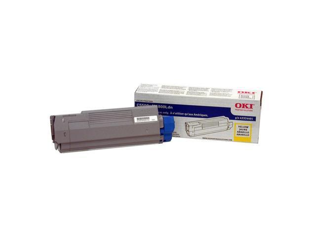OKI 43324401 Toner Cartridge F/ C5500/5800 Series 5000 Page Yield Yellow