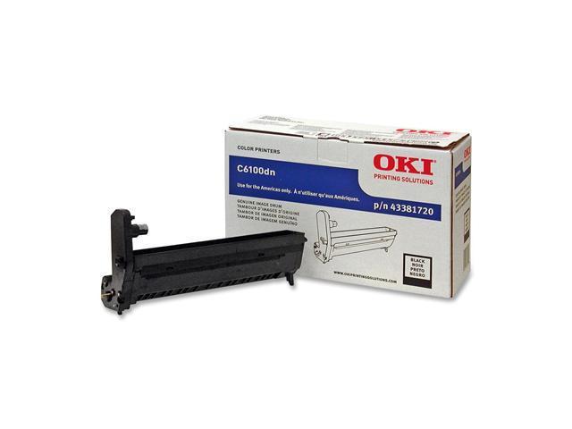 Oki Data 43381720 Drum Unit for C6100, C5550, C6150&#59; Black