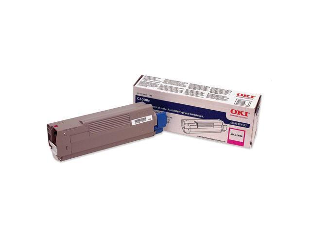 OKI 43324467 Laser Toner Cartridge for C6000N/DN; Magenta