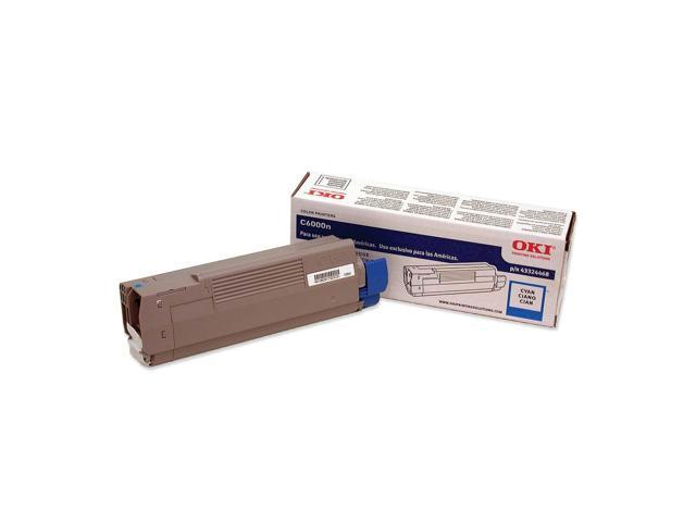 OKI 43324468 Laser Toner Cartridge for C6000N/DN; Cyan