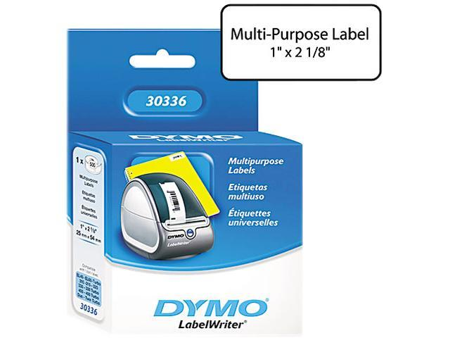 DYMO 30336  Multipurpose Labels, 1 x 2 1/8, White, 500/Box