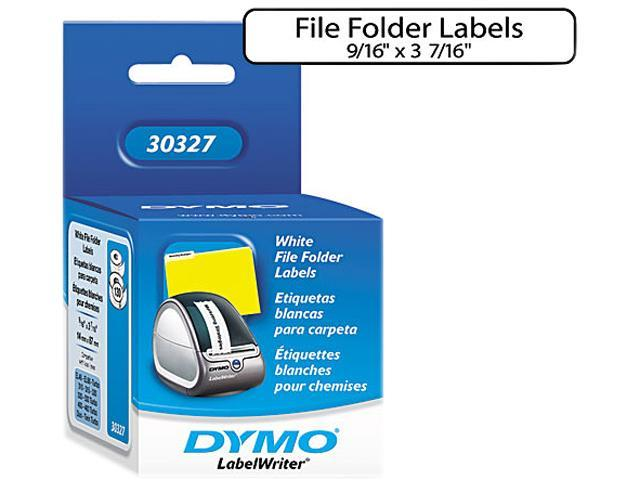 DYMO 30327 1-Up File Folder Labels, 9/16 x 3-7/16, White, 260/Box