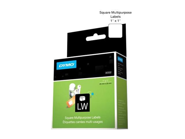 "Dymo 30332 Multipurpose Label 1"" Width x 1"" Length - 1 Roll - 750/Roll - Direct Thermal - White"