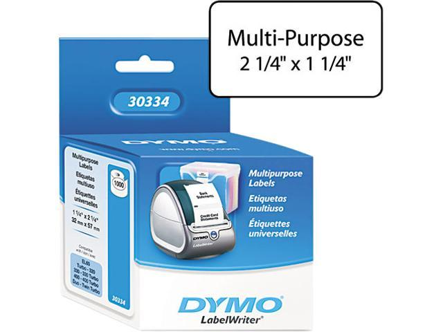 DYMO 30334 Address Labels, 1-1/4 x 2-1/4, White, 1000/Pack