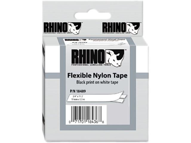 DYMO 18489 White Flexible Nylon Tape 3/4""
