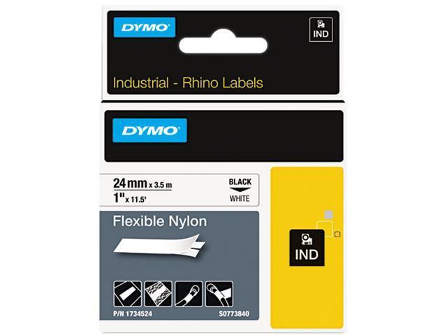 DYMO 1734524 Rhino Flexible Nylon Industrial Label Tape Cassette, 1