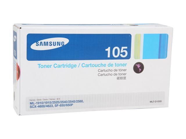 SAMSUNG MLT-D105S, 105 Standard Yield Toner Cartridge for printers ML-2525,ML-2545, SCX-4600, SCX-4623, SF-650 Black