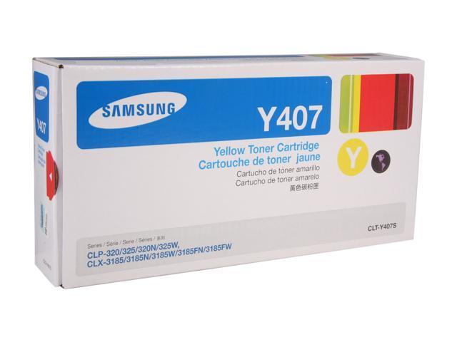 SAMSUNG CLT-Y407S, Y407 Toner for CLP-325W, CLX-3185FW Yellow