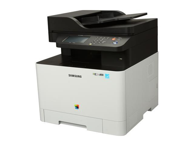 SAMSUNG CLX Series CLX-4195FW MFC / All-In-One Up to 19 ppm 9600 x 600 dpi Color Print Quality Color Wireless 802.11b/g/n Laser Printer