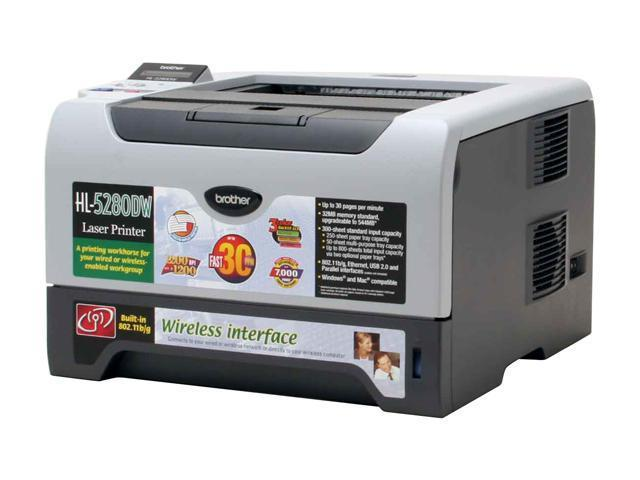 brother HL-5280DW Workgroup Up to 30ppm; up to 13 sides per minute in duplex mode Monochrome Laser Printer