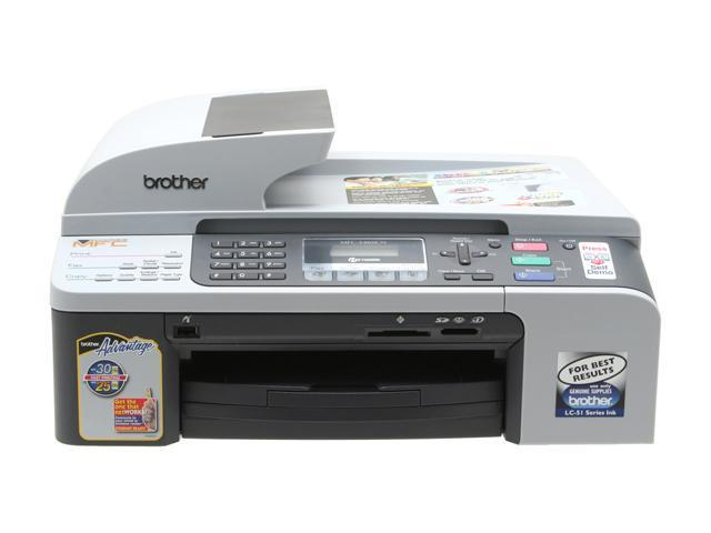 Brother MFC series MFC-5460cn Up to 30 ppm Black Print Speed 6000 x 1200 dpi Color Print Quality InkJet MFC / All-In-One Color Printer