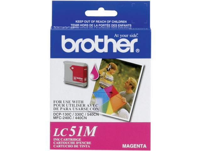 brother LC51M Print Cartridge For Brother DCP 130C/MFC-240C/MFC-665CW Magenta