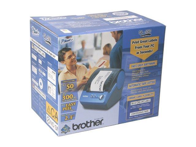 brother QL550 50 labels per min 300 dpi Label Printer