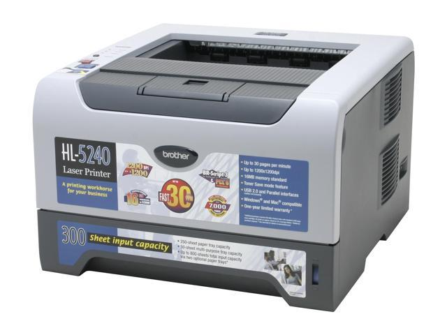 brother HL Series HL-5240 Personal Up to 30 ppm Monochrome Laser Printer