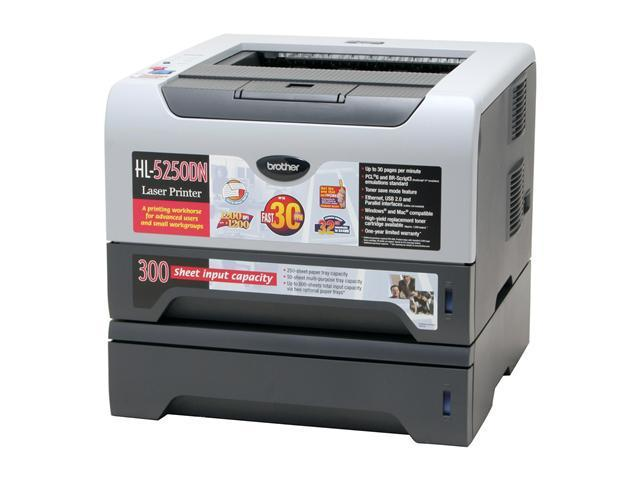 brother HL Series HL-5250DNT Workgroup Up to 30 ppm Monochrome Laser Printer