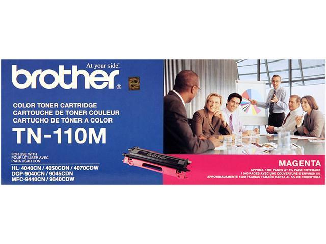 brother TN-110M Toner Cartridge for HL-4040CN, HL-4070CDW, MFC-9440CN, MFC9840CDW Magenta