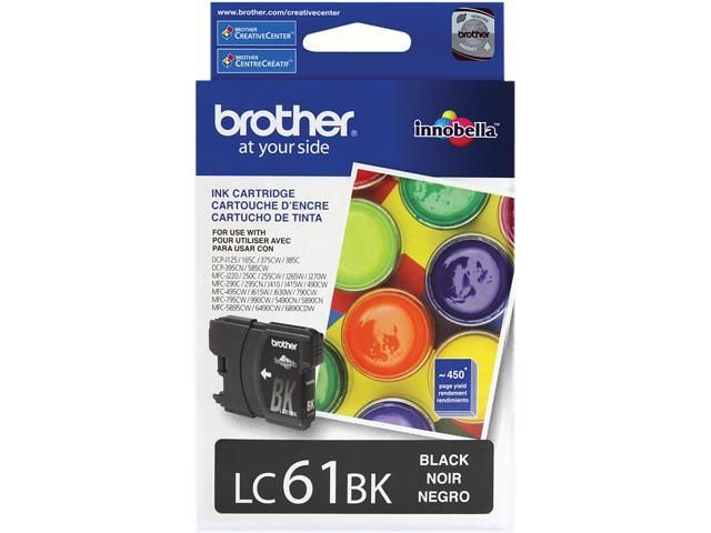 brother LC61BK Standard Yield Ink Cartridge Black