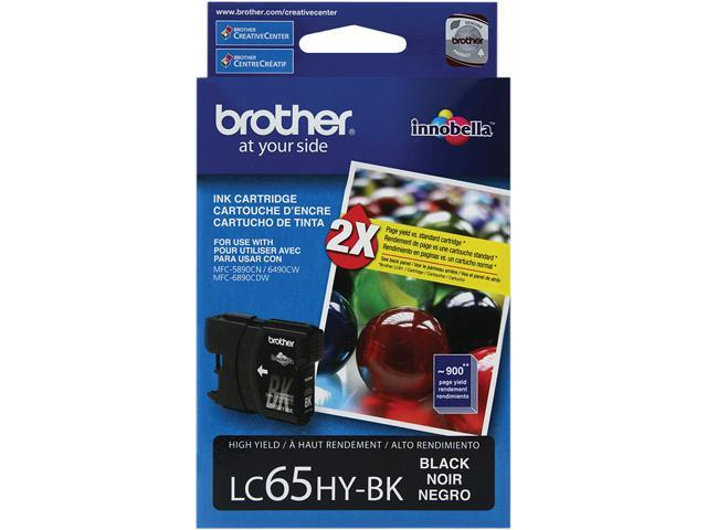 brother LC65HYBK High Yield Ink Cartridge For MFC-6490CW Black