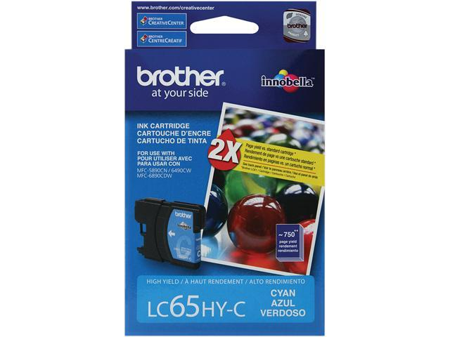 brother LC65HYC High Yield Ink Cartridge For MFC-6490CW Cyan