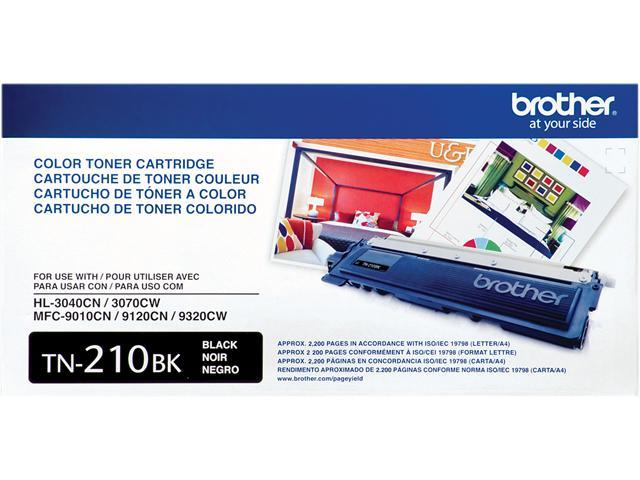 Brother TN210BK Toner Cartridge 2,200 Pages Yield; Black