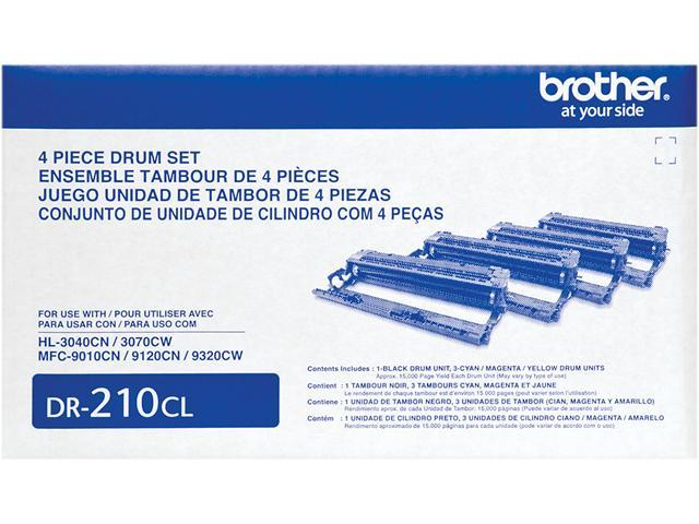 Brother DR210CL Drum Unit Set, 4 Pieces