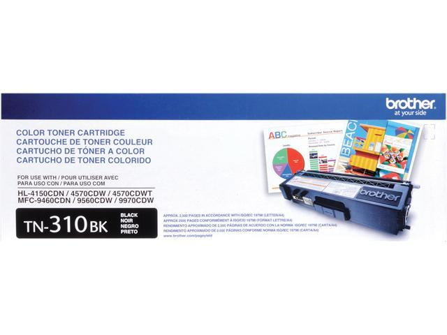 Brother TN310BK Toner Cartridge 2,500 Page Yield; Black