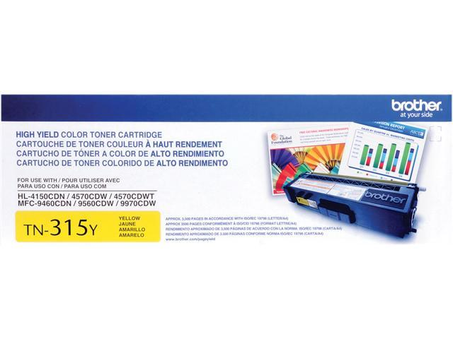 Brother TN315Y Toner Cartridge 3,500 Pages Yield; Yellow