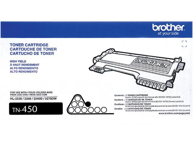 Brother TN-450 Toner Cartridge 2,600 Pages Yield; Black