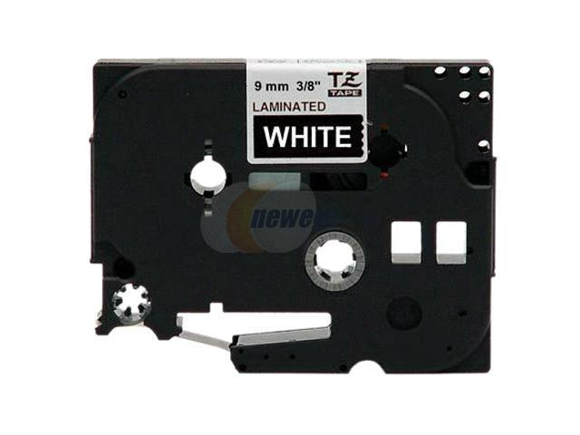 Brother P-Touch TZE-325 TZe Standard Adhesive Laminated Labeling Tape, 3/8w, White on Black