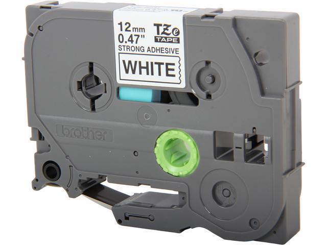 brother TZES231 TZe Extra-Strength Adhesive Laminated Labeling Tape, 1/2w, Black on White