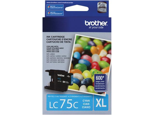 brother LC75C Innobella High Yield (XL Series) Ink Cartridge Cyan