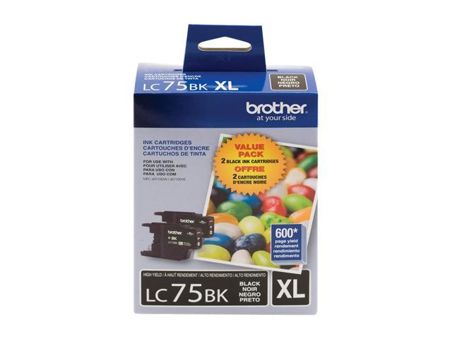 brother LC752PKS Innobella High Yield (XL Series) Ink Cartridge, 2 Pack Black