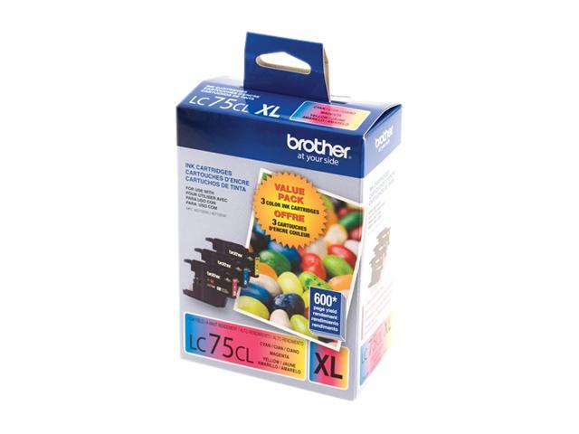 brother LC753PKS LC75CL 3 Pack Ink for MFC-J6510DW & MFC-J6710DW Cyan, Magenta, Yellow