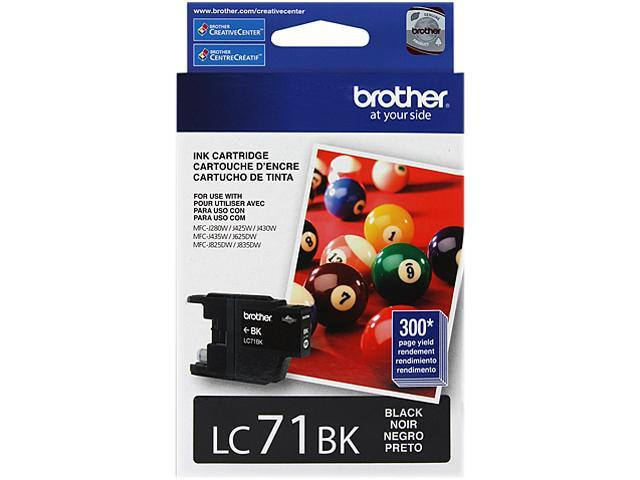 brother Innobella LC71BK Standard Yield Ink Cartridge Black