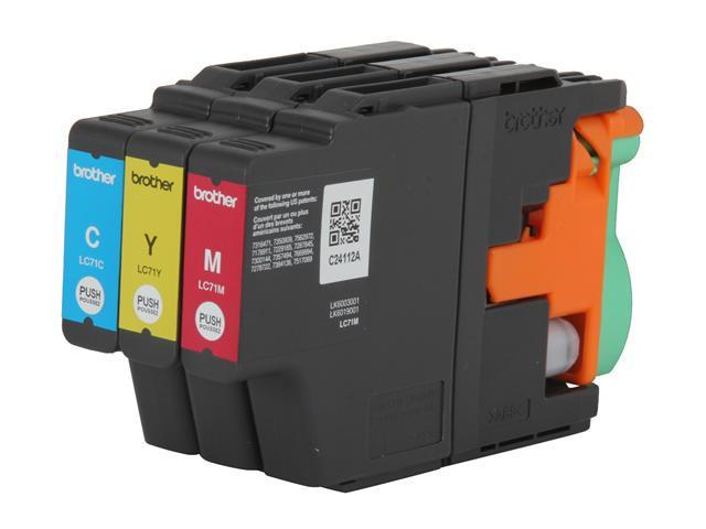 brother LC713PKS Innobella LC71 Color Ink Cartridges (1 each of Cyan, Magenta and Yellow) Cyan, Magenta, Yellow