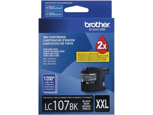 brother Innobella LC107BK Super High Yield (XXL Series) Ink Cartridge Black