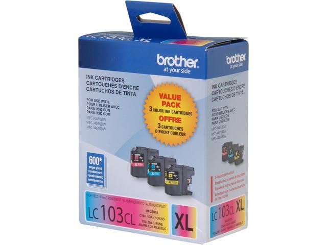 Brother LC1033PKS Ink Cartridge 600 Page Yield; Cyan / Magenta / Yellow