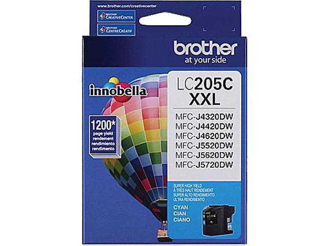 brother LC205CS-K Ink Cartridge 1,200 Page Yield; Cyan
