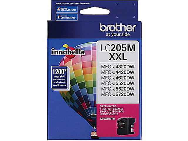 brother LC205MS-K Ink Cartridge 1,200 Page Yield; Magenta