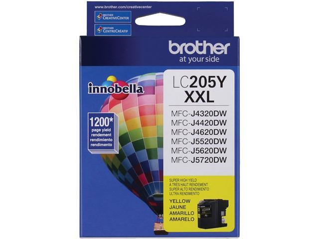 brother LC205YS-K Ink Cartridge 1,200 Page Yield; Yellow