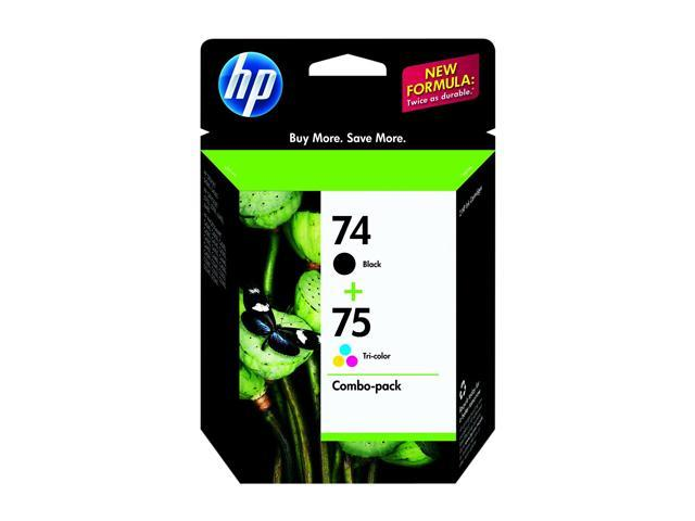 HP 74/75 (CC659FN) Ink Cartridge 200 / 170 Page Yield; Black, Tri-color