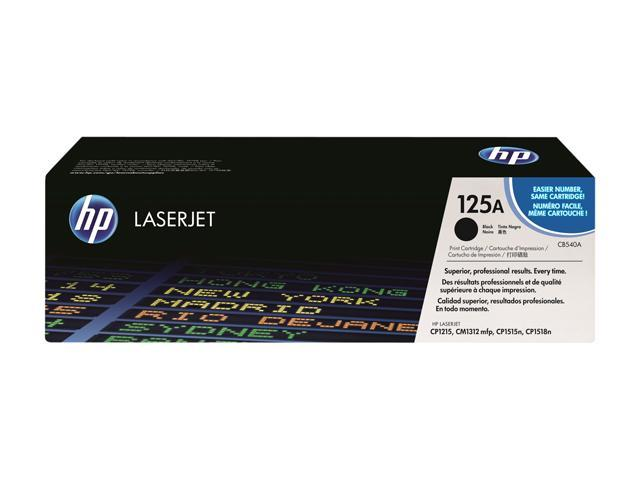 HP 125A Black LaserJet Toner Cartridge (CB540A)