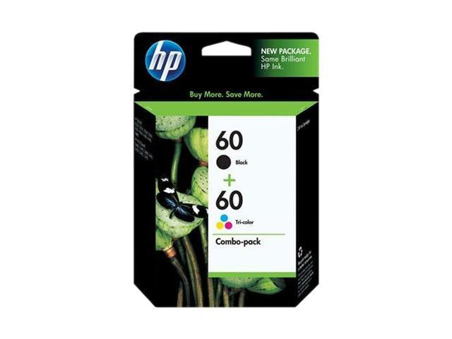 HP 60 Combo-pack Black/Tri-color Ink Cartridges(CD947FN#140)
