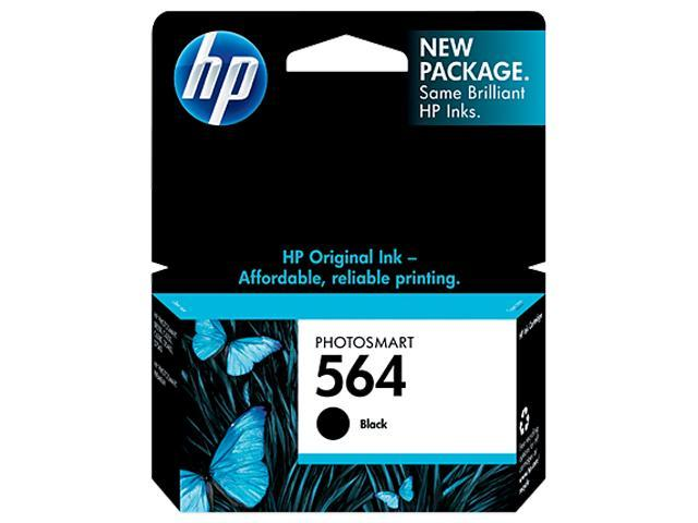 HP 564 Ink Cartridge(CB316WN#140) 250 page yield-  Black