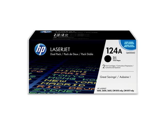 HP 124A Black  2-Pack LaserJet Toner Cartridge (Q6000AD)