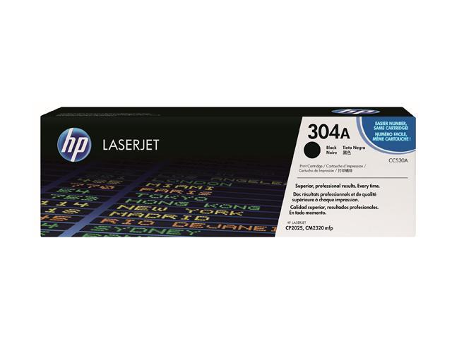 HP 304A Black LaserJet Toner Cartridge (CC530A)